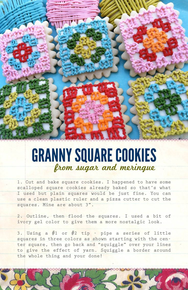 granny square cookies!!!