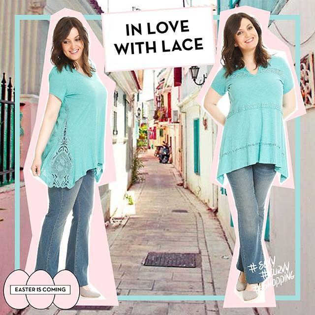 #lace #laces #happy #plussize #fashion #woman #love #spring #colours #jeans #happysizes curvy #shopping