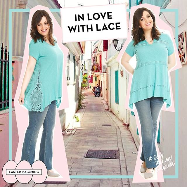#lace #laces #happy #plussize #fashion #woman #love #spring #colours #jeans #happysizes curvy #shopping