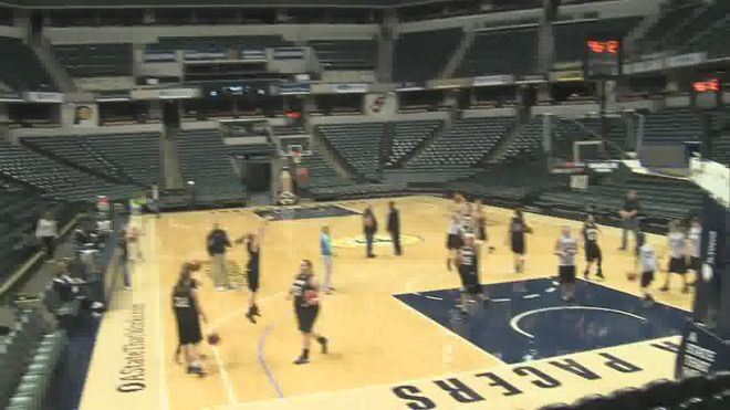 Thursday the Barr-Reeve girls basketball team practiced at Bankers Life Fieldhouse, the home of the Indiana Pacers. The Lady Vikings got an …