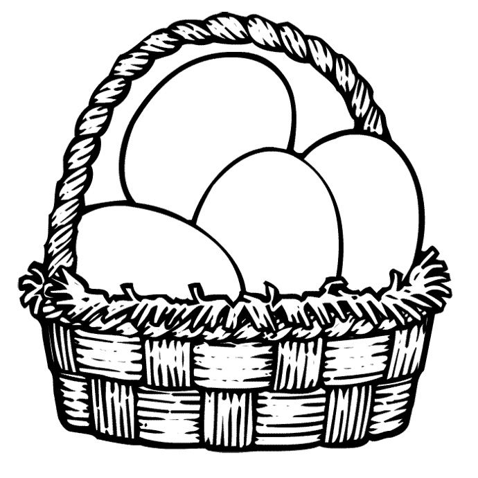 egg easter coloring pages