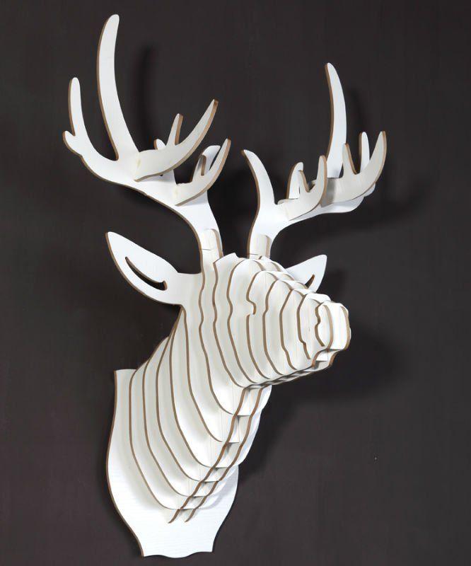 Madera de cabeza de alce decoracion de pared cabeza de - Cabeza de ciervo decoracion ...