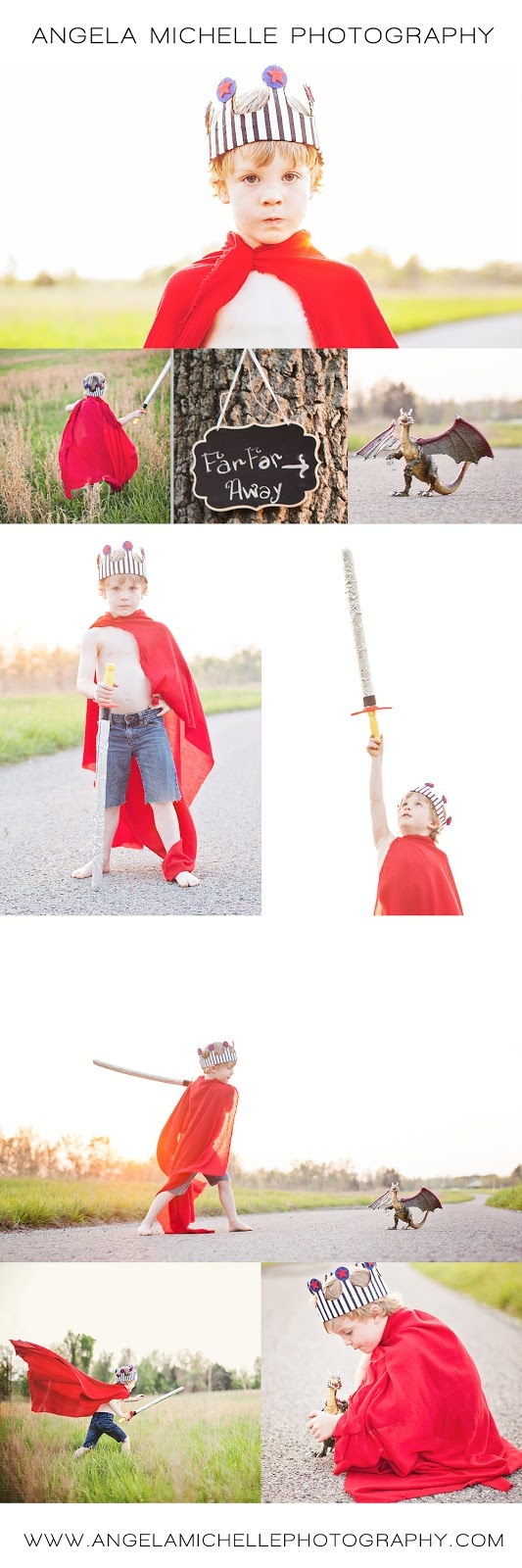 Little boy photo session crown prince Angela Michelle Photography