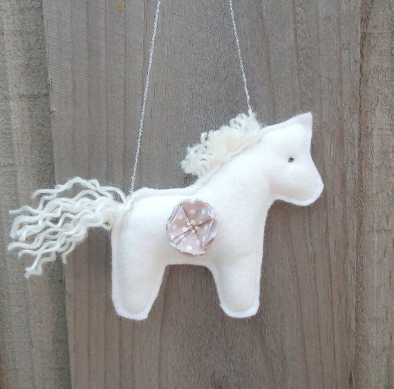 Horse toy nursery mobile horse. Hanging toy by CherryGardenDolls, $7.30