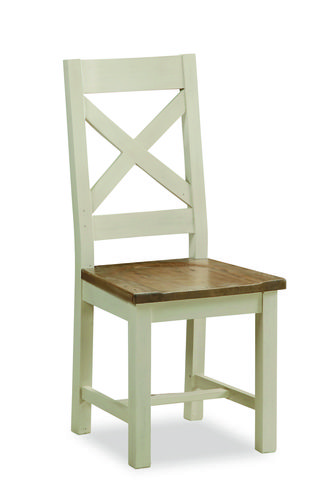 Portland, dining chair, cross back chair, wooden seat