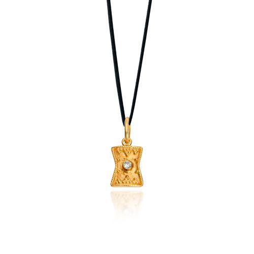 Byzance pendant in 18KT yellow gold with diamond.