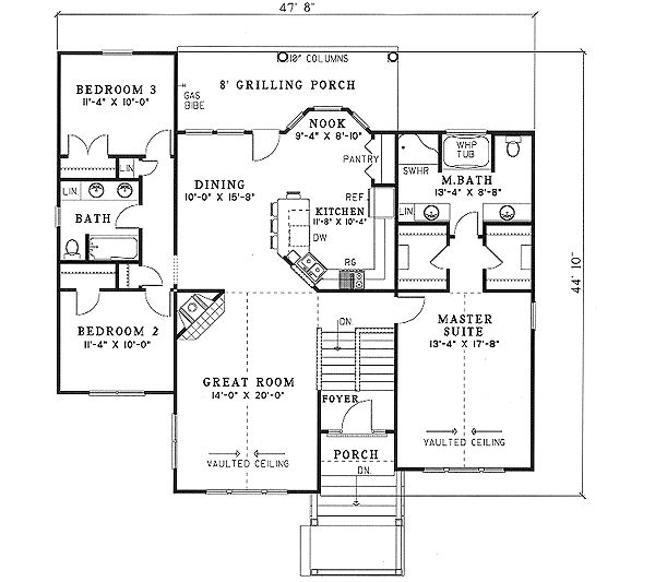 45 best images about floor plans on pinterest split Split master bedroom floor plans
