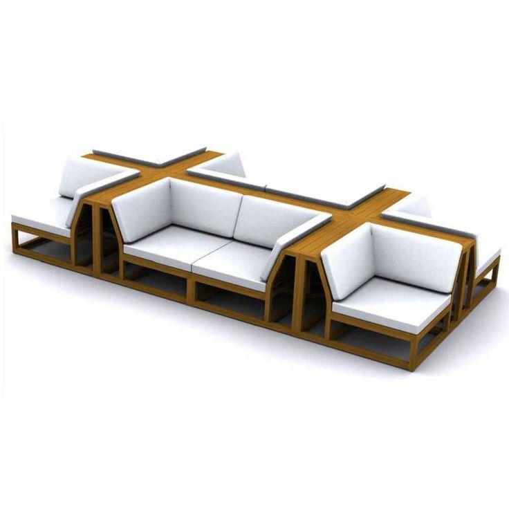 Maya Teak Sectional Outdoor Furniture Set