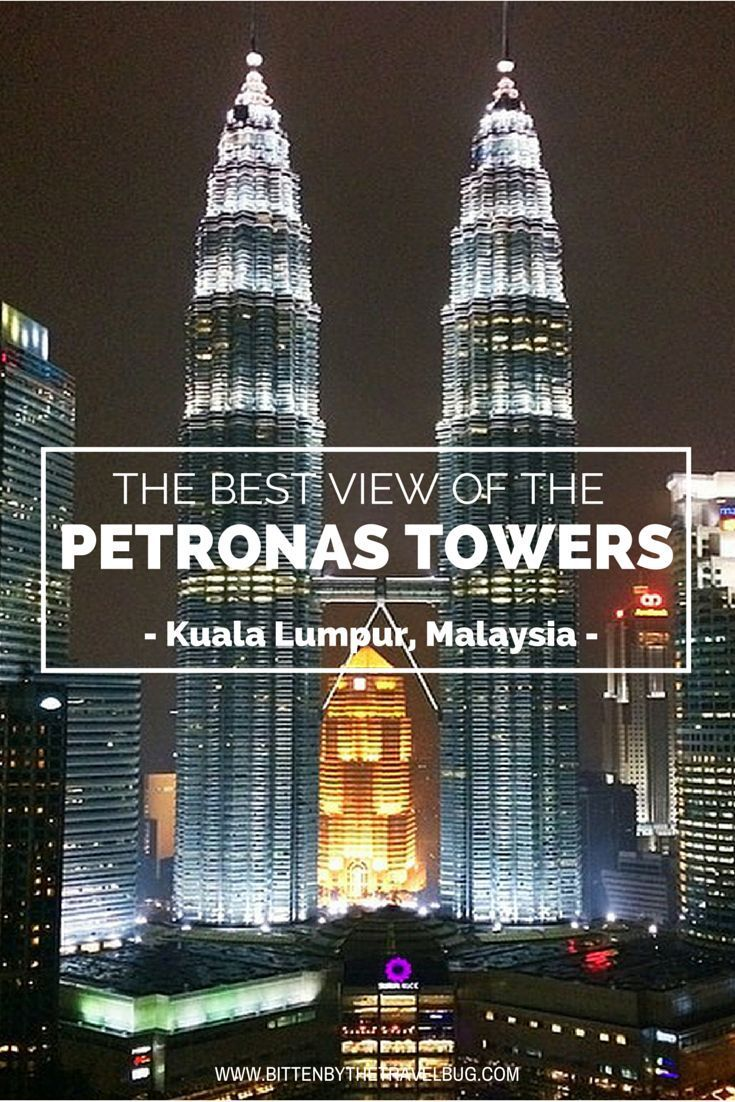 Looking for the BEST view of the Petronas Towers? I think I've found it...    | #TravelTips #KualaLumpur #Malaysia |