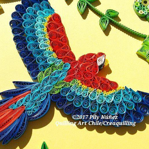Part of my accreditation work.Les comparto una parte de mi trabajo de acreditación.#quilling #macaw #quillingart #quillingguild #accreditation #quillingdesign #quilled #art #paperart #hechoenchile #arteenpapel #fattoamano #craft #diseñochileno #pilyquilling #pilynuñez #creaquilling #original #lgenpaper #creative #instaart #papel #arte #квиллинг #クイリング #quillingpaperart #papel #papier #guacamaya