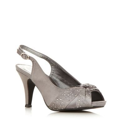 Debut Grey satin high slingback court shoe- at Debenhams.com. too dark?