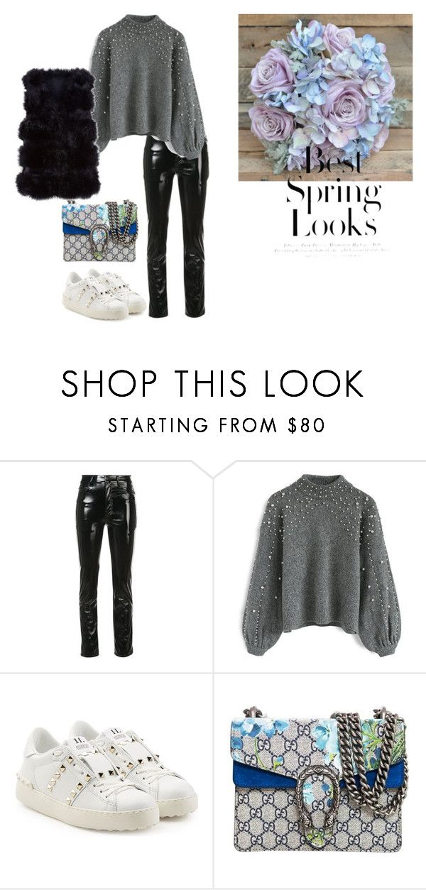 """""""SPRING"""" by yasmingarcia99 on Polyvore featuring Yeezy by Kanye West, Chicwish, Valentino, Gucci and H&M"""