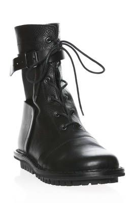 JACKIE high ankle combat boot in cowhide leather - TRIPPEN