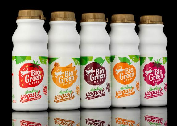 Bio Green Dairy Logo and Packaging