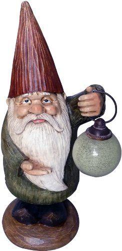 Terrapin Trading C5TDE48336 Garden Gnomes The Lamplighter * Click image to review more details.