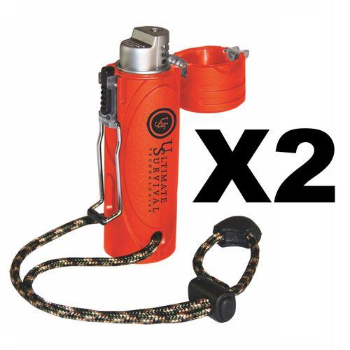 Ultimate Survival Technologies Trekker Stormproof Lighter, Orange (2-Pack)