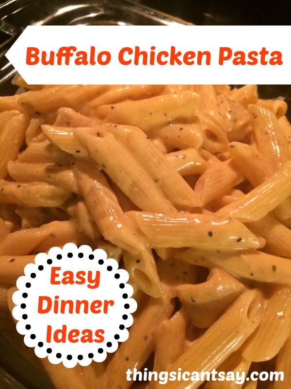 Buffalo Chicken Pasta: Easy Dinner Ideas. I would cut the salt in half, I used half a fiesta ranch packet, and Mexican blend cheese