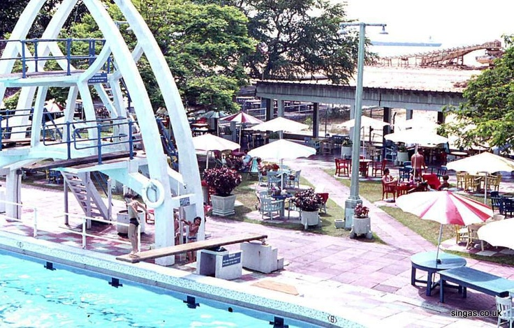The Singapore Swimming Club... where I learned to swim. That diving board sure seemed taller when I was 6...