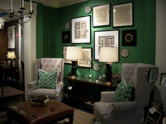 Best 25 gray green bedrooms ideas on pinterest gray - Grey and emerald green living room ...