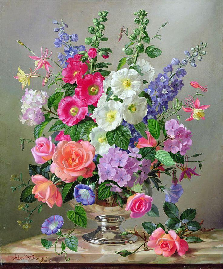 картины с изображением цветов в картинках