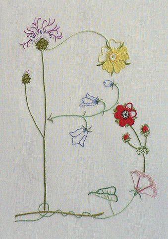 Field flowers alphabet - B