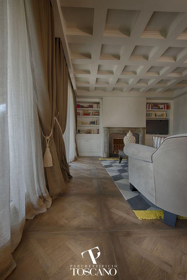 Quadrotta in massello di Quercia, modello Leonardo, finitura speciale English Style