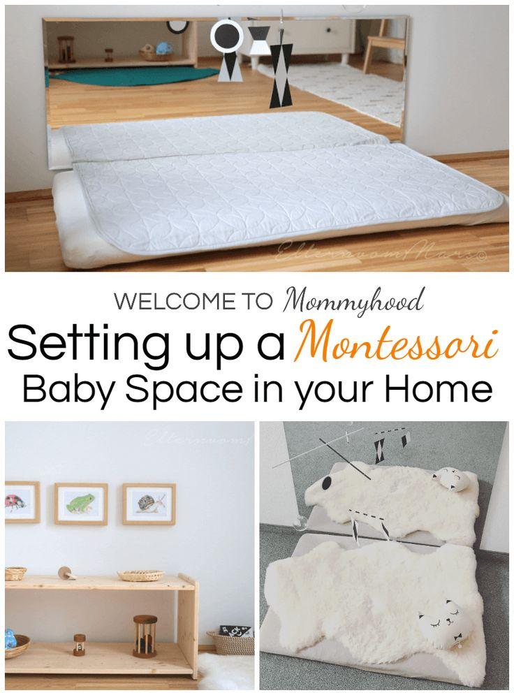 Comment configurer les espaces bébé Montessori: Montessori home   – Kindheitspädagogik | DIY Toys | Raum