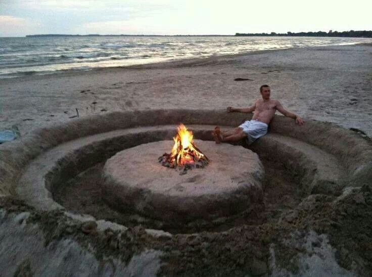 Beach fire pits, Fire pits and Fire on Pinterest