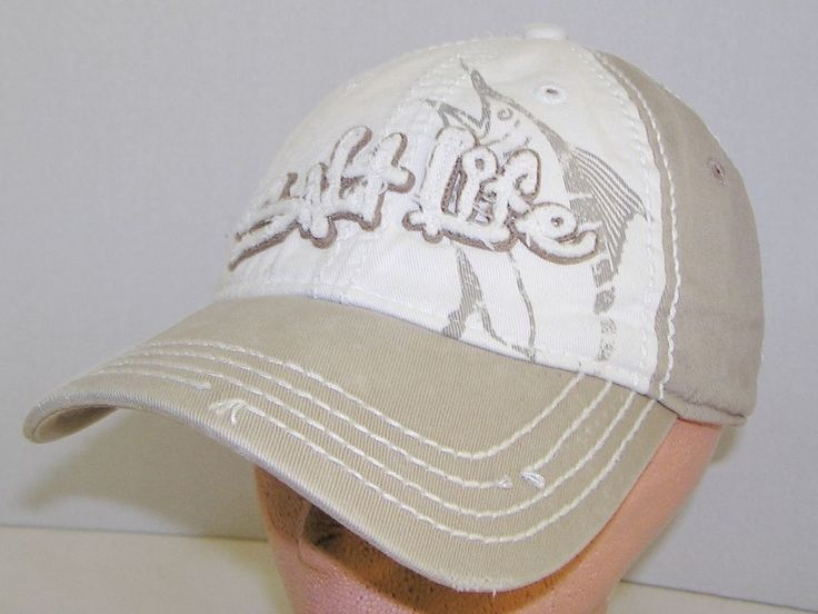 salt life baseball hat marlin distressed khaki cap surf beach