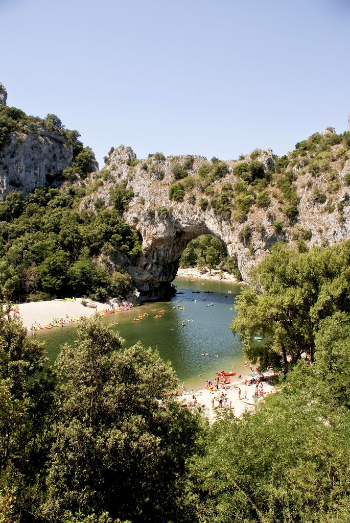 Ardeche, France - Vallon Pont D'Arc.