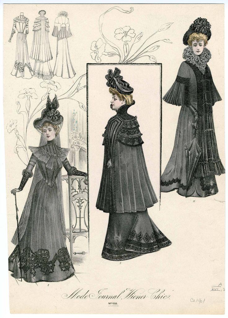 Mourning dress- fashion plate, ca. 1901.