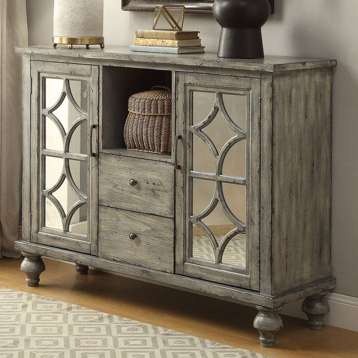 Diondre 2 Door And 2 Drawer Console Table Accent Doors Accent