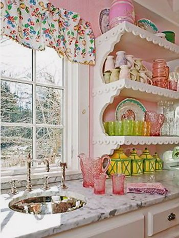 Kirstie Alley's Maine cottage: kitchen details