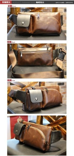 Fabric: horsehide¡£Internal Structure: zipper pocket cell phone pocket document bag popular elements