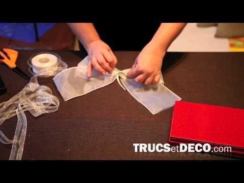 comment faire un noeud en ruban ou tissu tutoriel par d coration. Black Bedroom Furniture Sets. Home Design Ideas