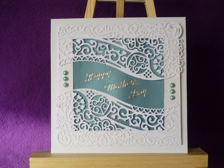 Tattered Lace die cut Mothers Day card