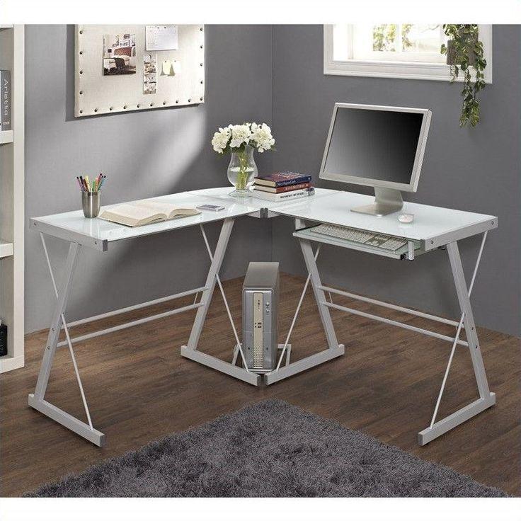 Lowest price online on all Walker Edison White Corner Computer Desk - D51W29