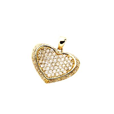 YELLOW GOLD TEMELLI HEART G80979 Temelli Jewellery