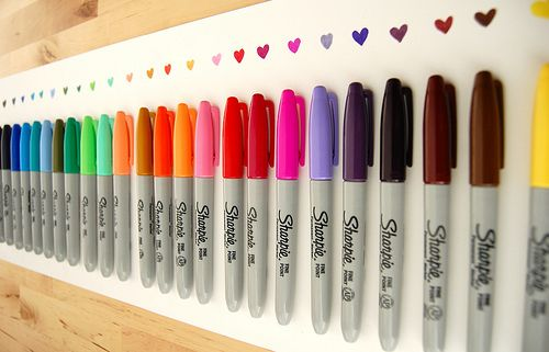 My not-so-secret love of sharpies. A beautiful spectrum of color