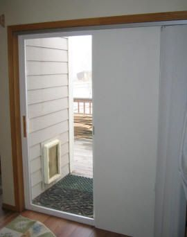 Insulating A Sliding Glass Door With Rigid Insulation Board.