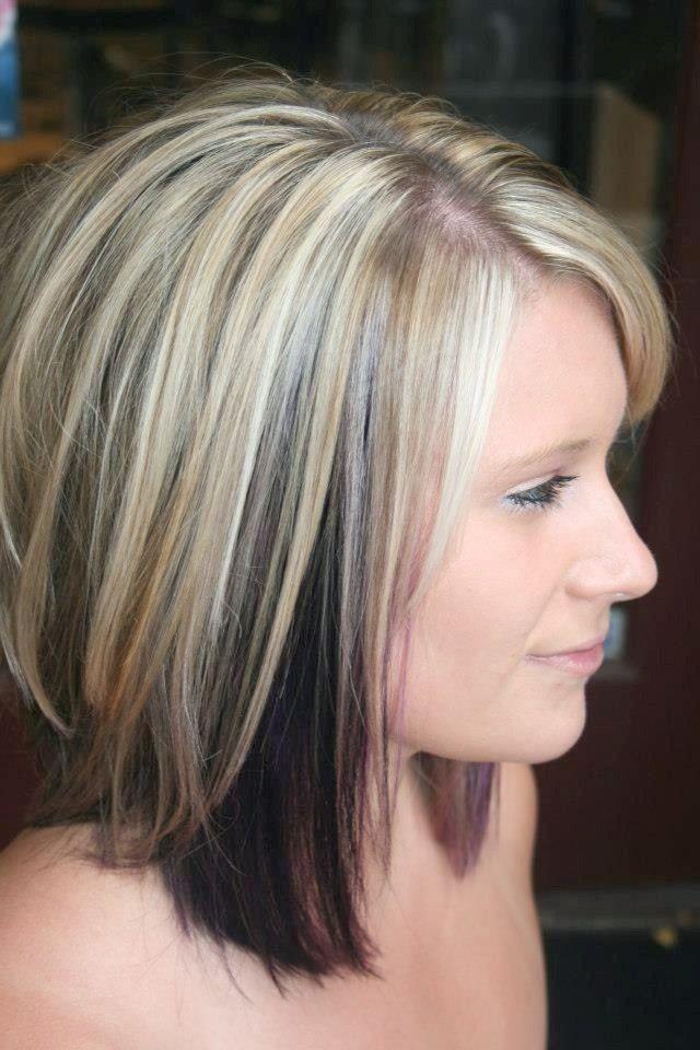 10 Zweifarbige Frisuren Die Sie Lieben Mussen Haarschnitt Haarfarben Mittellange Haare Frisuren Einfach