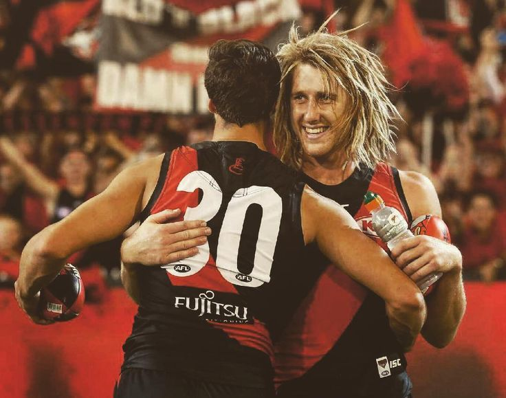 Bombers enjoy a win on the road against Brisbane. Dyson Heppell and Kyle Langford.