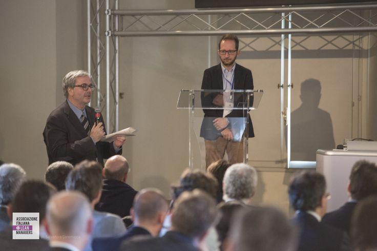 Alfredo Montanari - Bologna Business School e PaoloZanella - vice presidente AILM e  ThyssenKrupp AST