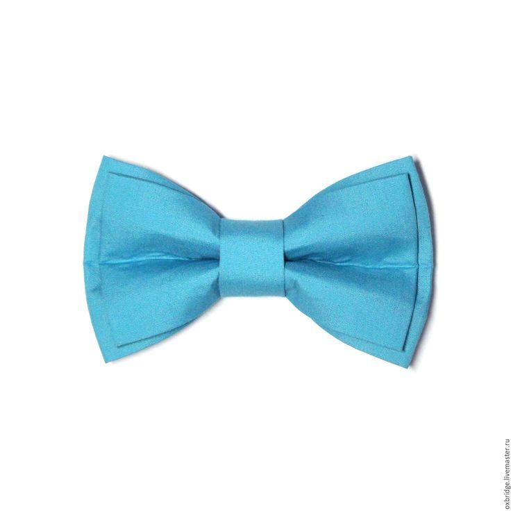 Купить Галстук бабочка голубого цвета / Бабочка галстук / Бабочка голубая