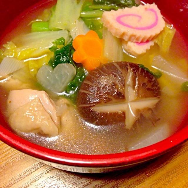 アゴのだしで、 鶏肉、かつお菜が入ってます♡ - 19件のもぐもぐ - 博多のお雑煮꒰ ♡´∀`♡ ꒱ by sakutae