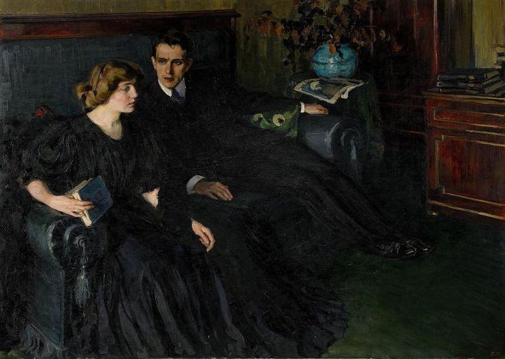 Елена Киселёва. Ревность. 1907 год.  Частная коллекция