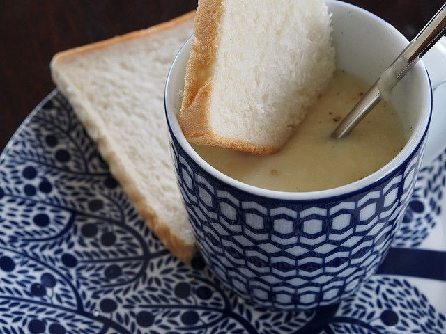 parsnip and apple soup in the thermomix
