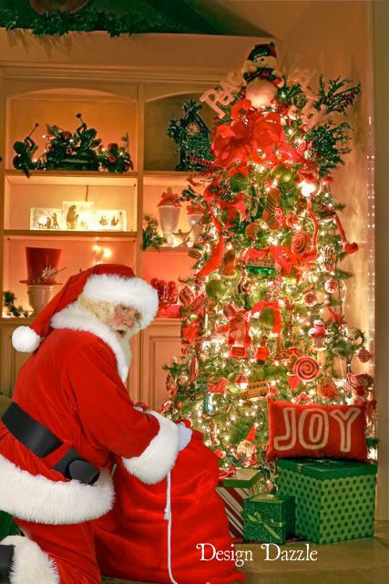 Thrill your kids this Christmas with a photo of Santa in YOUR house! Your kids will LOVE seeing a picture of Santa in their very own home delivering presents?!! This is such a cool idea and very easy to do. Design Dazzle #Santainyourhome, #Santaideas #Santa