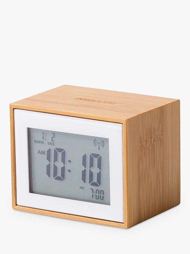 Lexon Lr144 Radio Controlled Alarm Clock Bamboo Alarm Clock Clock Alarm