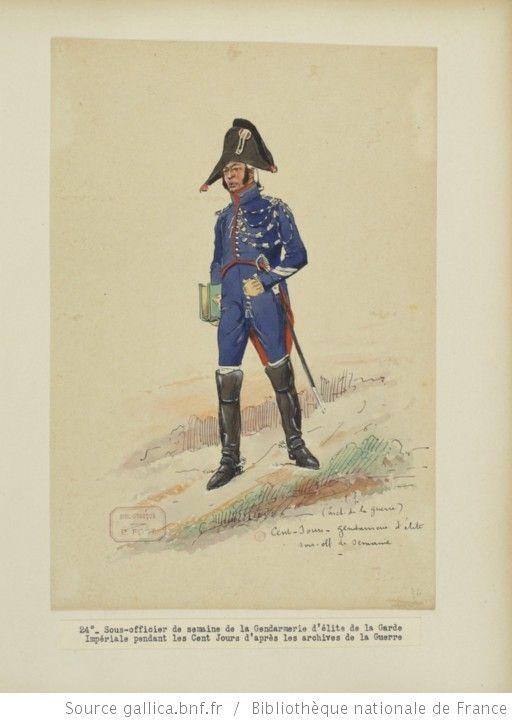 [Grenadiers-gendarmes, gendarmerie d'élite de la garde des consuls et de la garde impériale, 1793-1815 / Notes et aquarelles par E. Fort.] - 38